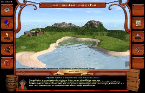 Una schermata di gioco di Pirates War