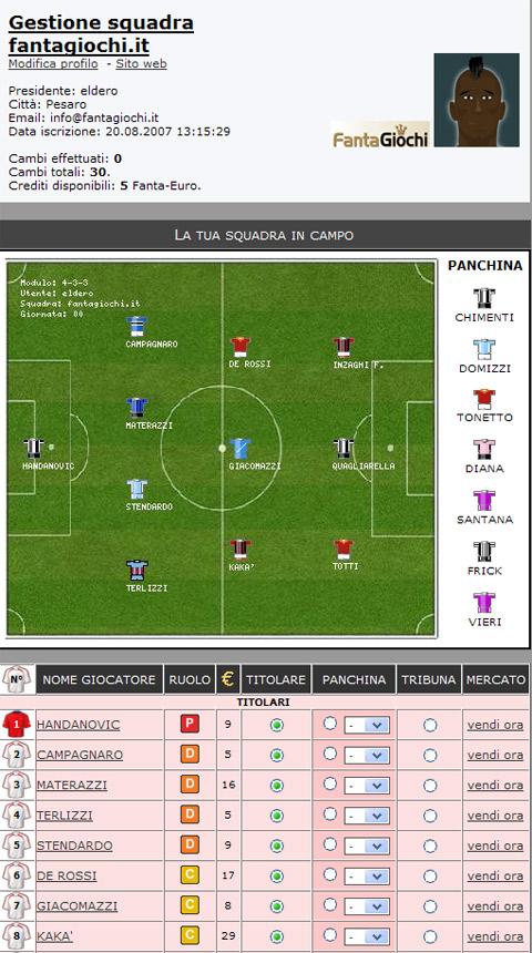 Fanta Game Soccer Manager