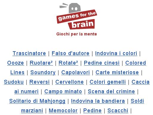 Giochi per il cervello.