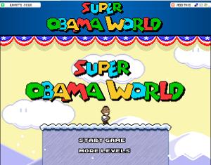 Il gioco Super Obama Wirld