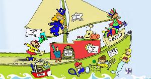 Nave di Clo, giochi online per bambini .