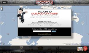 Monopoly city streets.