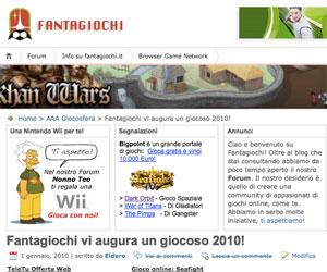 Schermata Fantagiochi.it