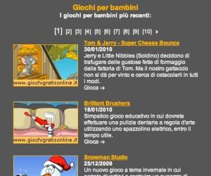 Giochi gratis online, sezione bambini