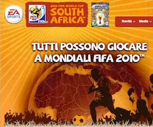 Gioco dei mondiali Sud Africa 2010.
