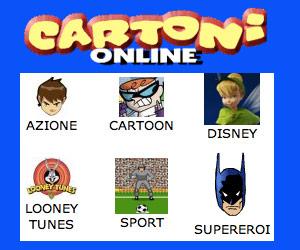 Giochi online sulle più belle serie di cartoni animati.