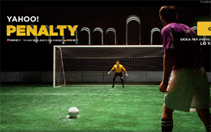 Gioco a premi online, sfida ai rigori tutti gli utenti del mondo con Yahoo Penalty.
