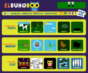 El Buho Boo, sito di giochi educativi per bambini.