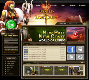 World of Lordcraft, browser game gratuito alla Wow.