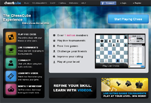 Chess Cube, scacchi online.