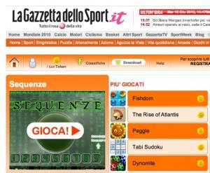 I giochi online di Gazzetta.it