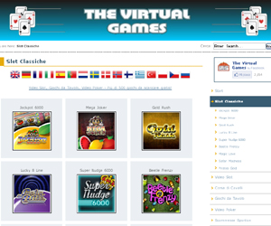 The Virtual Games, giochi d'azzardo gratis online.