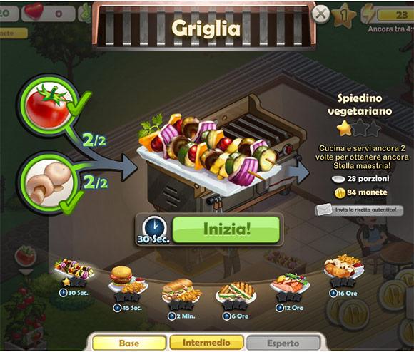 ChefVille: Schermata di cottura
