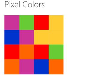 Pixel Colors.