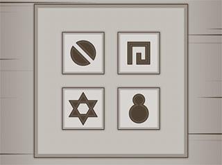 Ruins Escape: Combinazione di simboli.