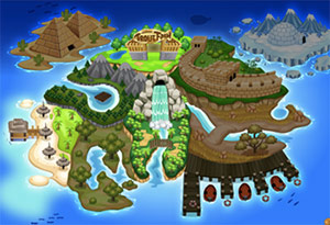 Fishao, la mappa di gioco.
