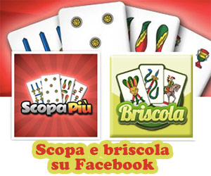Scopa e Briscola su Facebook.