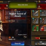 Eternity Warriors 3: Gestione del personaggio
